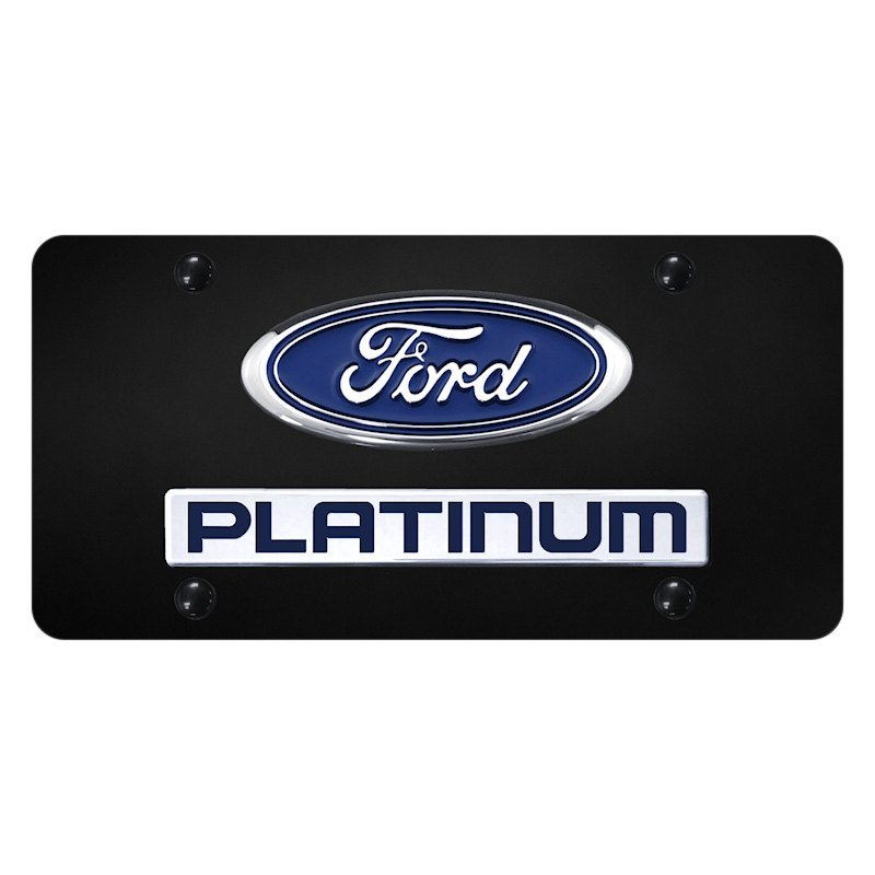 15ab1a80c05 Autogold® - License Plate with 3D Chrome Platinum Logo and Ford ...
