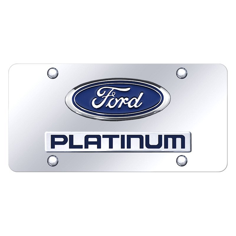 e8c8774a2d1 Autogold® - License Plate with 3D Platinum Logo and Ford EmblemAutogold® ...