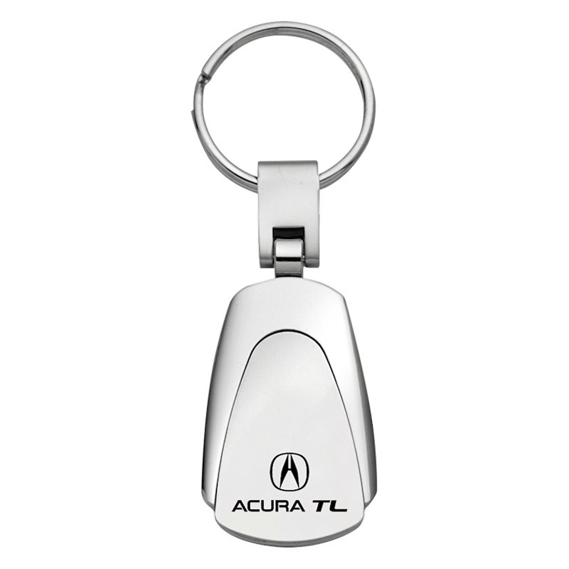 TL Chrome Teardrop Key Chain