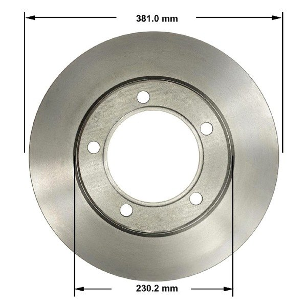 Disc Brake Rotor Front Right Bendix PRT6344