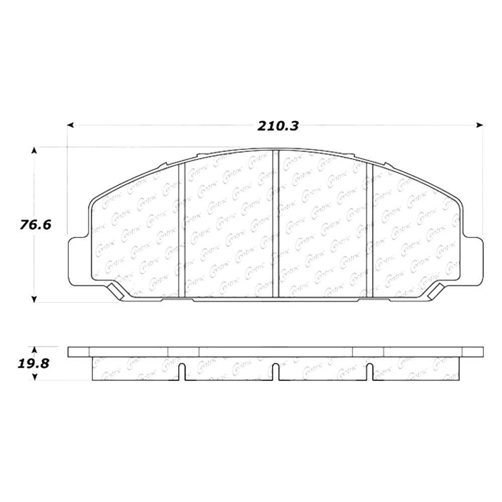Disc Brake Pad Set Front Centric 106.08270