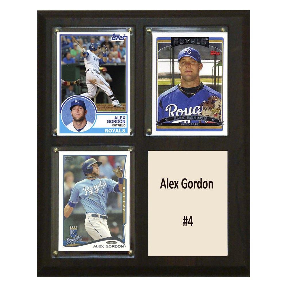 Ci Collectibles 810algordon3c Mlb Kansas City Royals Alex Gordon 8 X 10 Individual Player Card Plaque