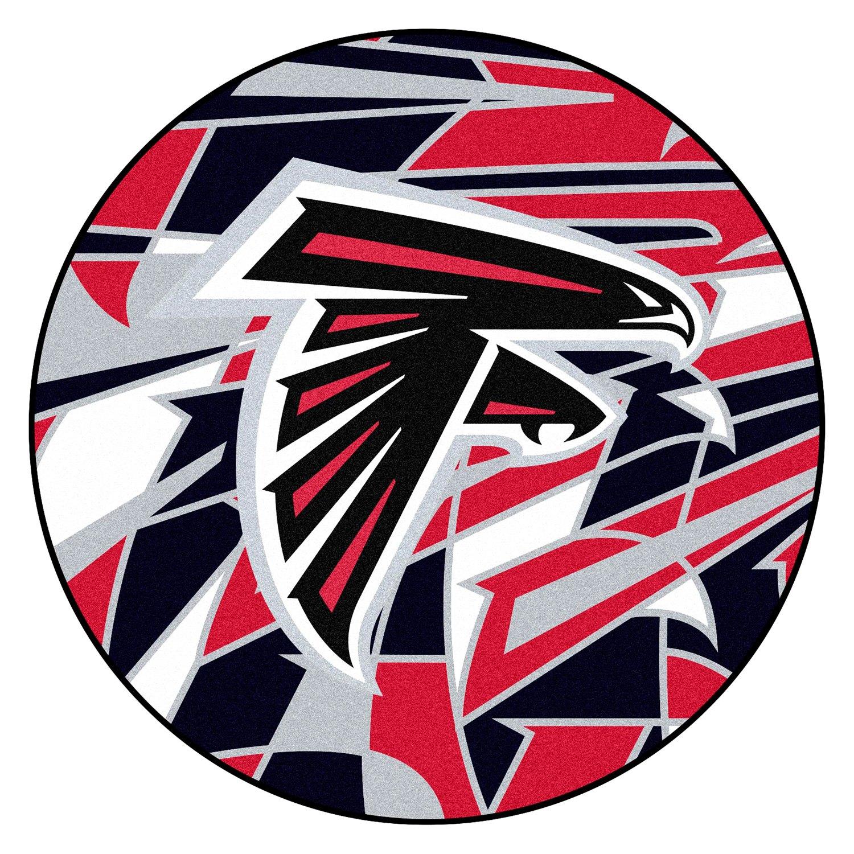 "FanMats® 23201 - ""X-FIT"" NFL Atlanta Falcons Round Nylon ..."
