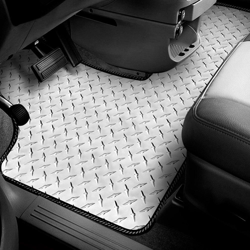 Intro Tech Cv 430 Dp Diamond Plate 1st Row Floor Mat