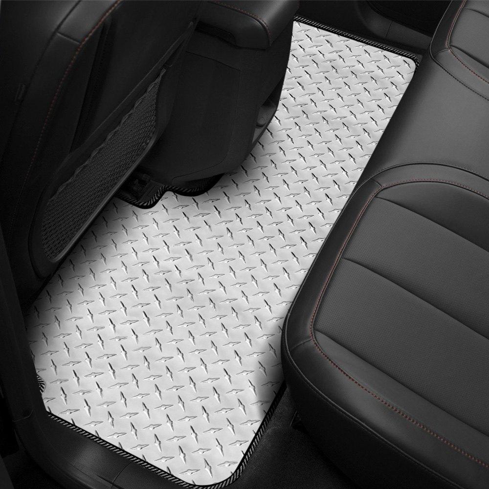 Intro Tech Cv 411 Dp Diamond Plate 2nd Row Floor Mat