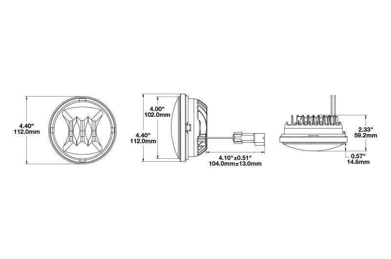 j w  speaker u00ae 0551583 - 6045 series 4 5 u0026quot  round led fog lights