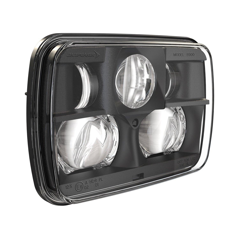 """J.W. Speaker® - 8900 Evolution 2 7x6"""" Rectangular Black Projector LED Headlight"""