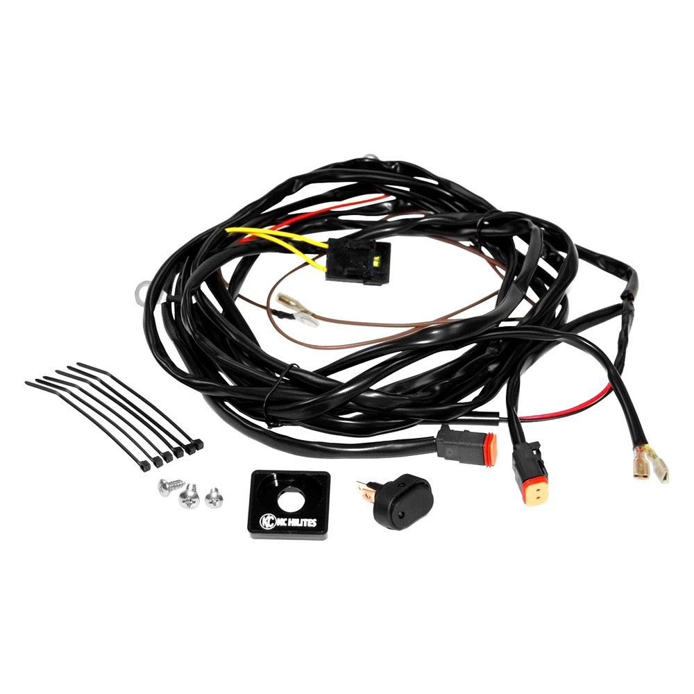kc hilites u00ae 6308 - wiring harness with 2-pin deutsch connectors for two lights