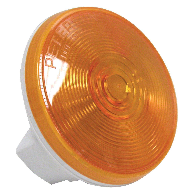 Peterson U00ae 426a - 426 Series 4 U0026quot  Crystal Amber Round Turn Signal Light