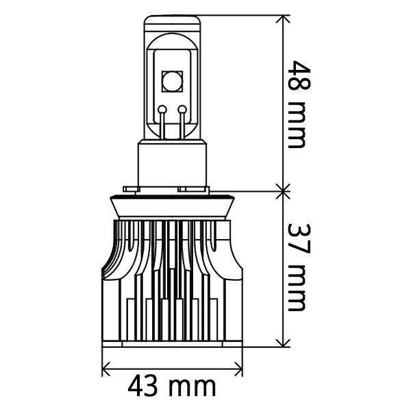 piaa u00ae 26-17496 - g3 led conversion kit  9006    hb4  white color bulbs